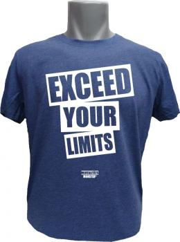 T-Shirt Exceed your Limits blaumeliert
