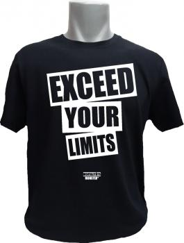 T-Shirt Exceed your Limits schwarz